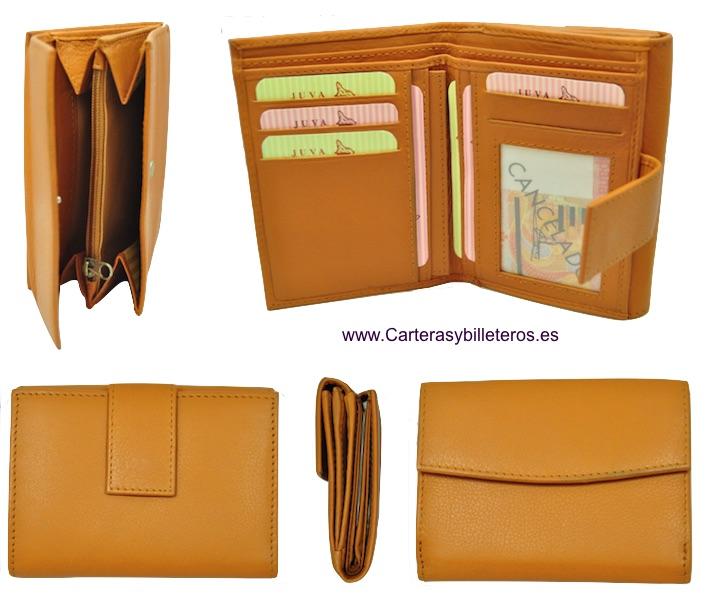 029c12d65cb monedero con billetero doble para mujer color cuero barato