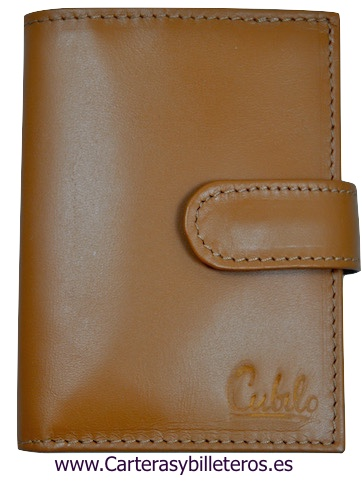 LEATHER WALLET CARD HOLDER 26 CARDS CUBILO BRAND LEATHER