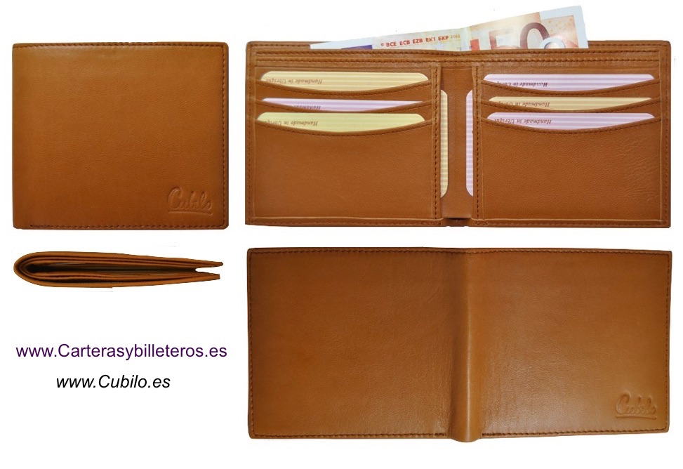 NAPA LEATHER WALLET CARD ULTRA-THIN FROM UBRIQUE (SPAIN) BRAN CUBILO LEATHER
