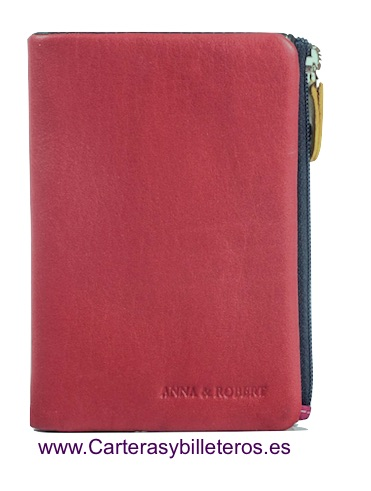 MULTICOLOR SOFT LEATHER PURSE WALLET ROJO Y OTROS
