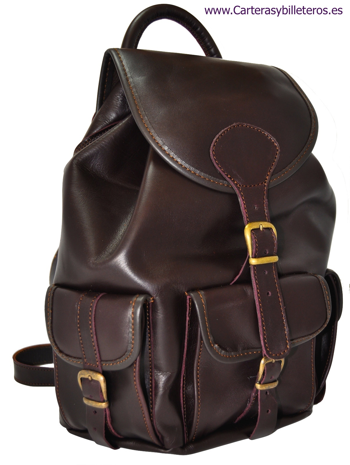 PONY LEATHER BAG HANDMADE DARK BROWN