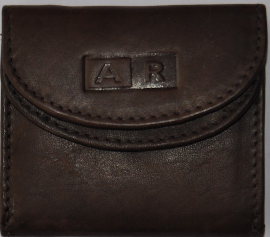 MONEDERO DE PIEL CON BILLETERO MINI MARRON