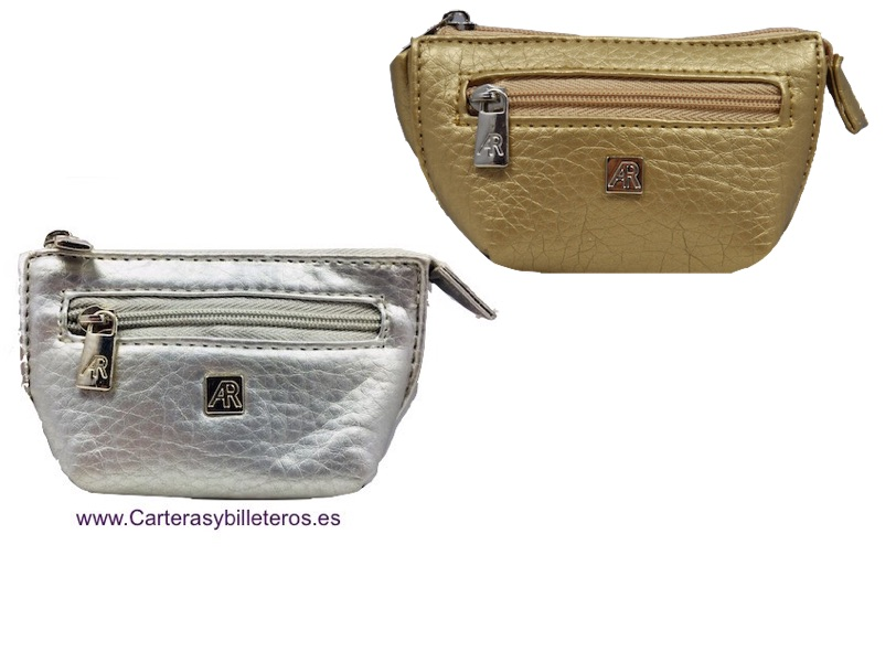 WALLET OF FEATHER OF THE MARK AR WITH BELLOWS PLATA Y ORO 2 UIDADES