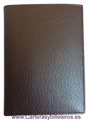 LUXURY LEATHER WALLET CARD HOLDER MADE IN UBRIQUE BROWN