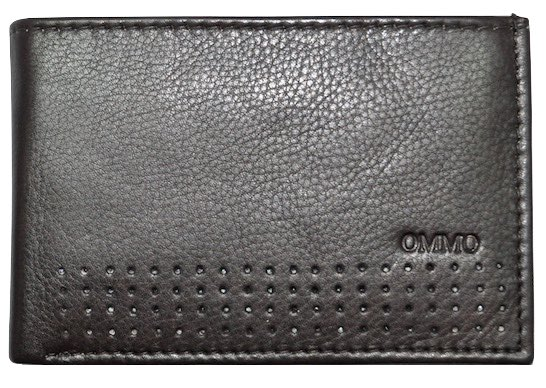 CARTERA TARJETERO DE PIEL CON BILLETEROY MONEDERO MINI MARRON