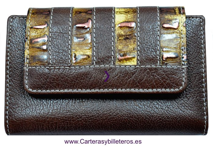 WALLET WOMEN'S WITH A LEATHER BOW QUALITY LUXURY LEATHER