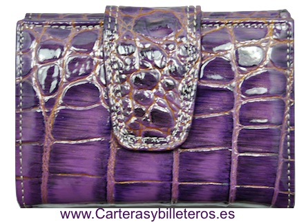 LITTLE WOMEN'S WALLET OF LUXURY SKIN VERY COMPLETE AND GREAT QUALITY VIOLETA
