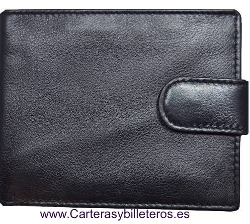 WALLET MAN CARDFOLDER AND BILLFOLD EXTRA-FINE QUALITY SKINE BLACK