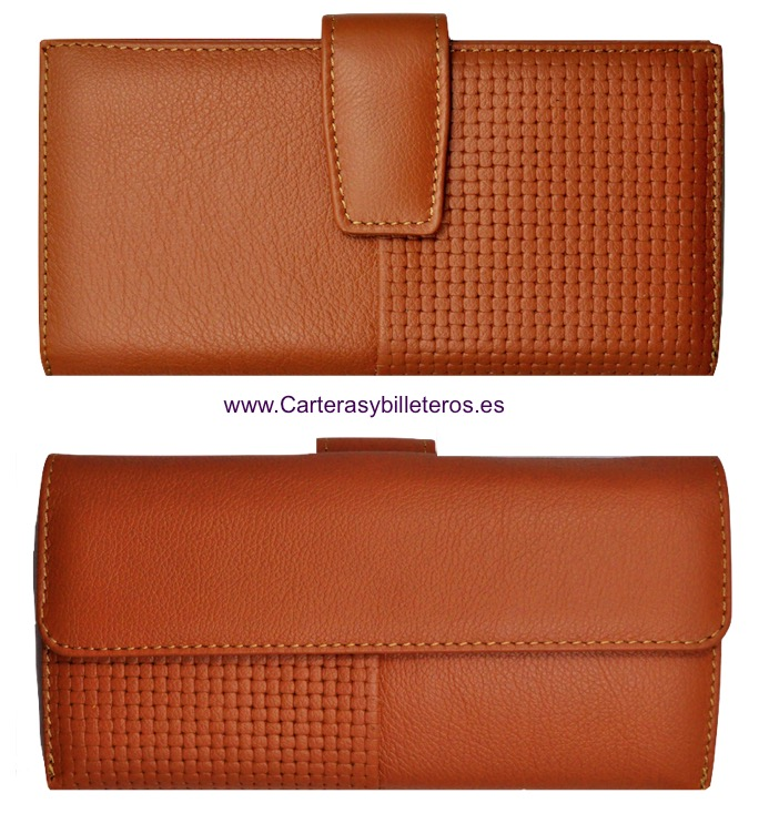 NAPA LEATHER WOMAN WALLET BIG CARD - 5 colors- LEATHER