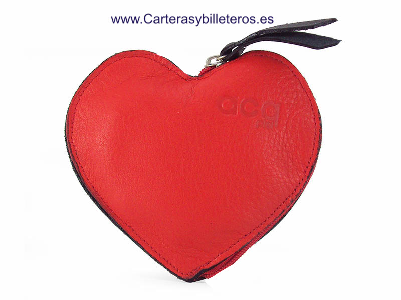 HEART PURSE ZIPPER ROJO