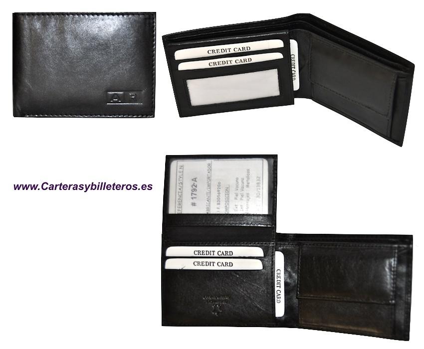 Cartera Billetera Hombre DNI Compartimentos Tarjetas Carnet Conducir