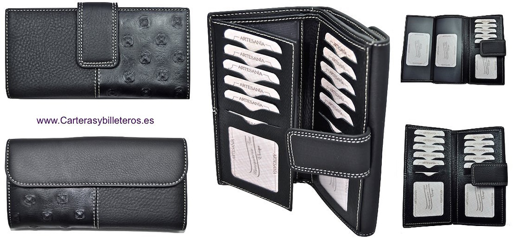 BIG WOMEN WALLET WITH DOUBLE LEATHER FINISH
