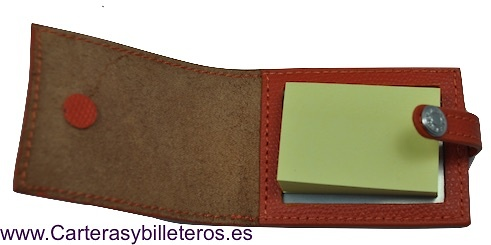 BOLÍGRAFO SET AND LEATHER PORTANOTES