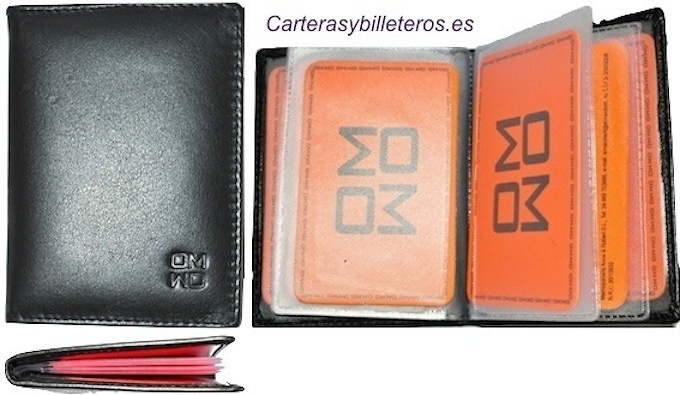BUSINESS CARD HOLDER LEATHER NAPA QUALITY 8 CARDS LUX