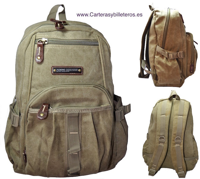 CANVAS BACKPACK EXTRA STRONG WITH 5 POCKETS