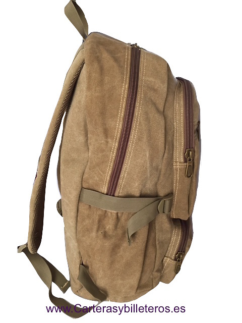 CANVAS BACKPACK EXTRA STRONG WITH 7 POCKETS