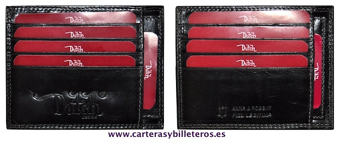 CARD HOLDER BRAND LEATHER THIN DUTCH BRAND FOR TEN CREDIT CARD