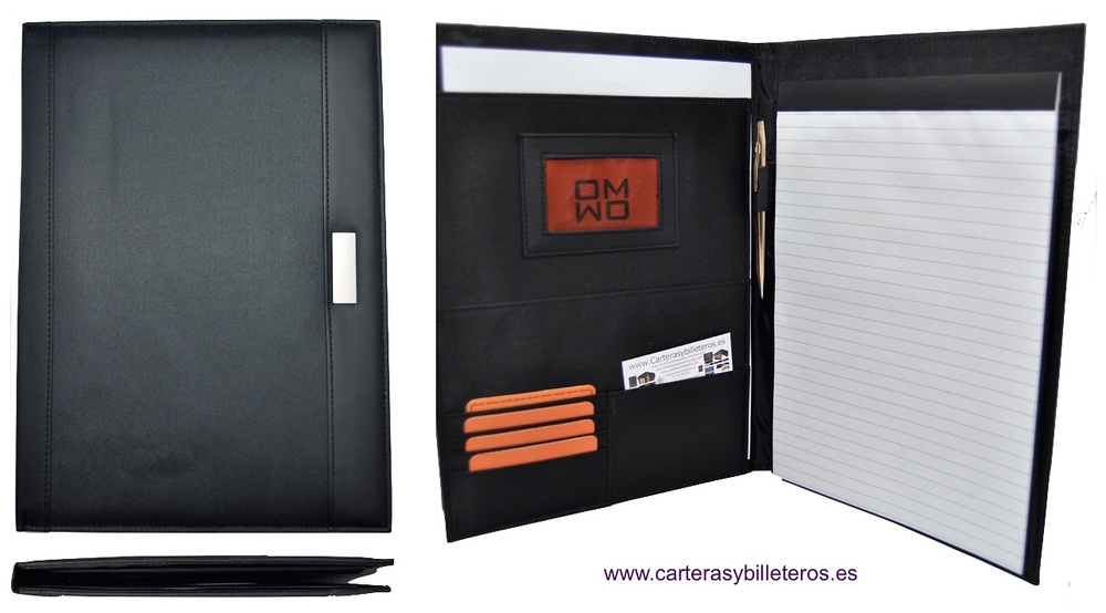 CARPETA DOCUMENTOS CON CLASIFICADOR Y BLOC DE NOTAS