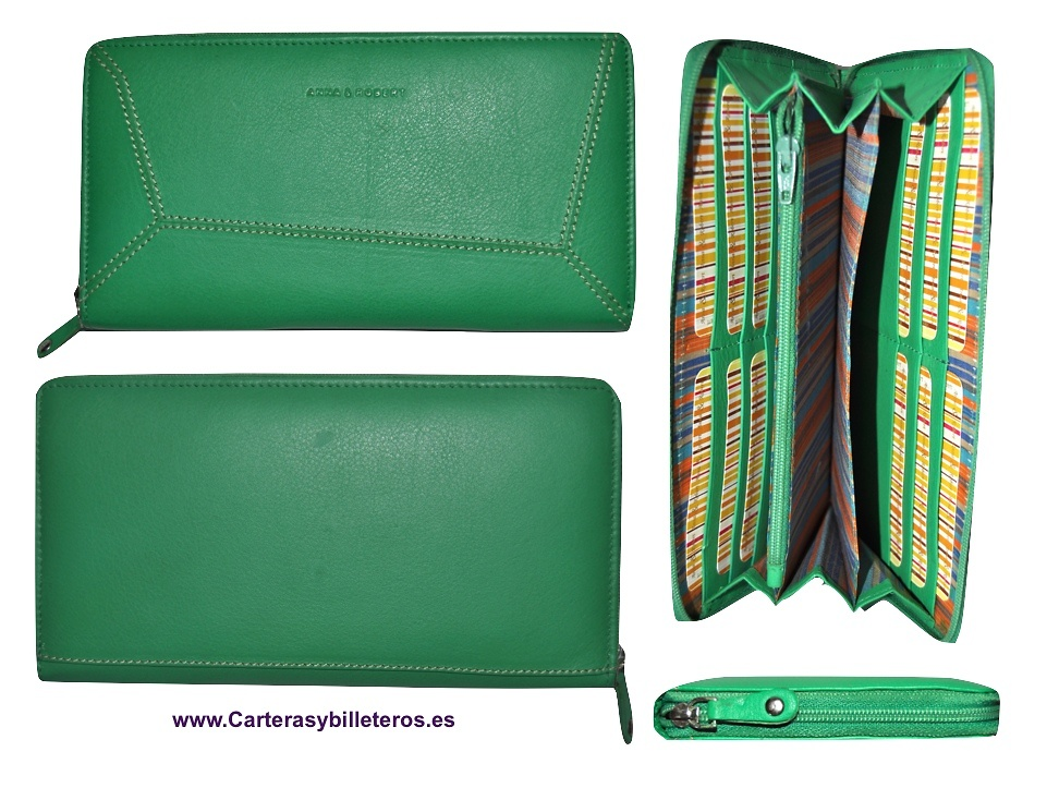 CARTERA BILLETERA CLUTCH DE PIEL