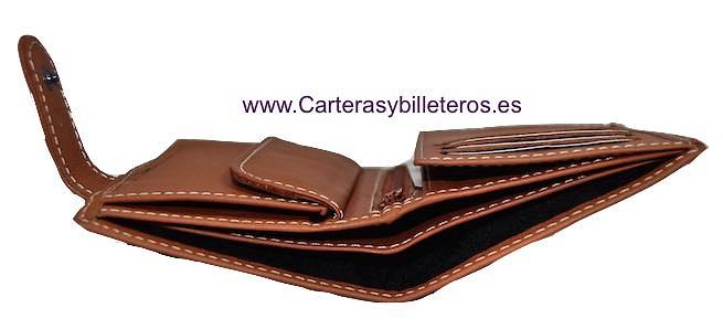 CARTERA BILLETERO HOMBRE EN PIEL DE UBRIQUE NAPALUX CON CIERRE - 4 COLORES -