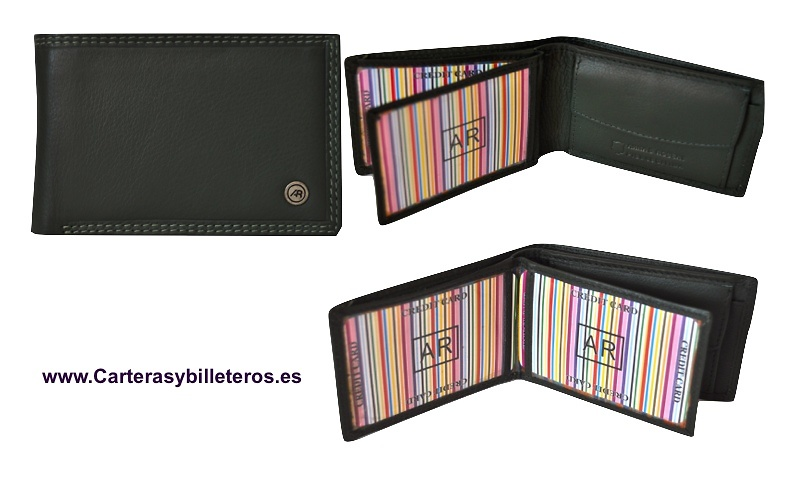 CARTERA BILLETERO MONEDERO MINI EN PIEL LUXURY