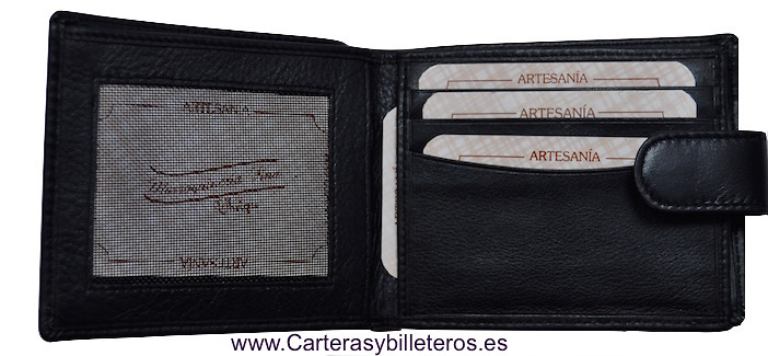 CARTERA BILLETERO PIEL UBRIQUE EXTRAFINO CON CIERRE