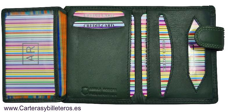 CARTERA DE PIEL LUXURY CON MONEDERO EXTERIOR