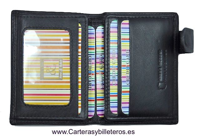 CARTERA TARJETERO DE PIEL LUXURY CON BILLETERO