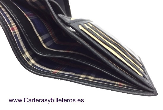 CARTERA TARJETERO HOMBRE TITTO BLUNI DE PIEL LUXURY 17 TARJETAS