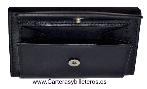 KEY WITH PURSE IN LUXURY LEATHER WITH SNAP