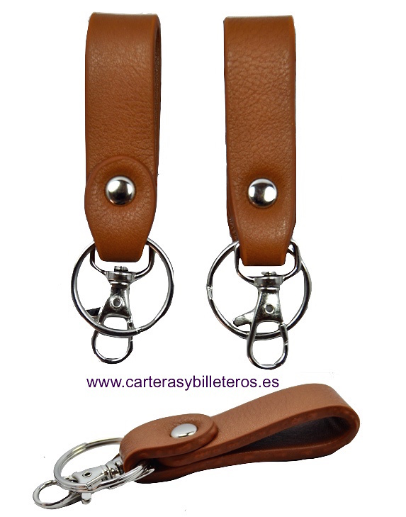 KEYRINGS IMITATION LEATHER WITH RING AND MOSQUETÓN