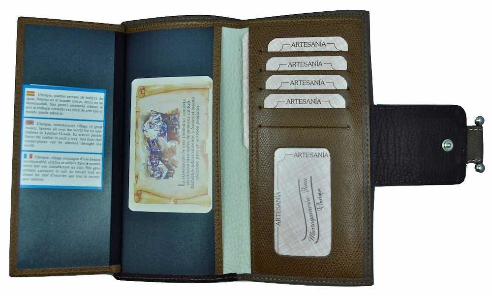 LARGUE WALLET WOMEN'S WITH A LEATHER BOW MADE IN SPAIN