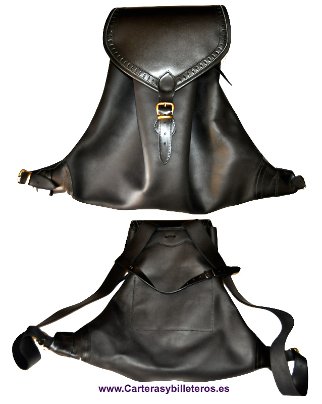 LEATHER BACKPACK HANDMADE IN SPAIN