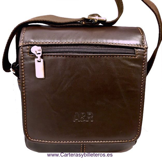 Leather Bag Man With Shoulder Made In Spain