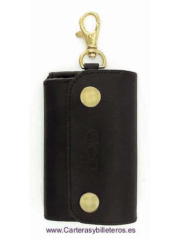 LEATHER KEY RING WITH OUTER CARPET