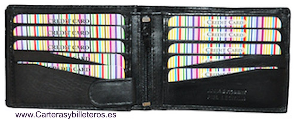 LEATHER MEDIUM WALLET CARD.