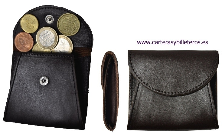 LEATHER PURSE WITH BELLOWS