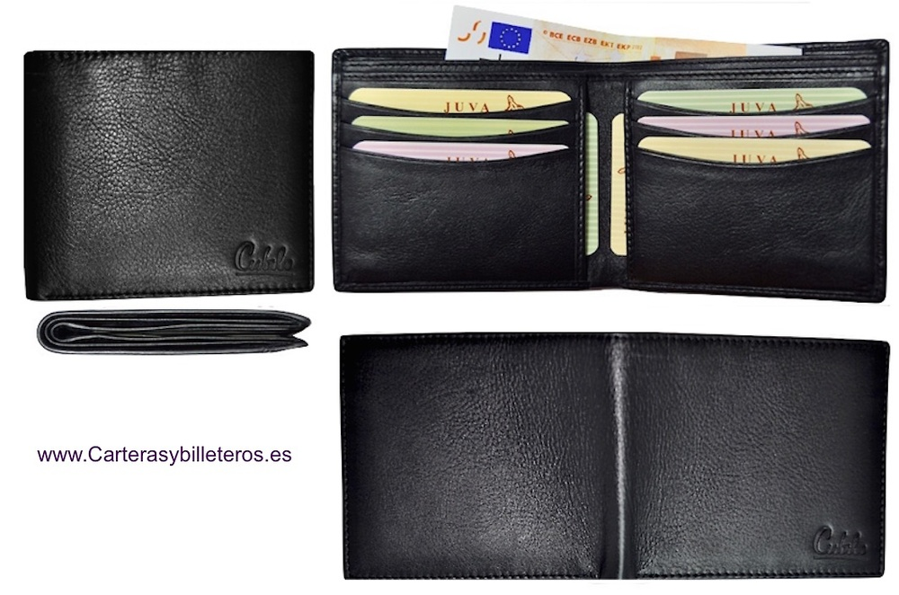LEATHER WALLET CARD FROM UBRIQUE (SPAIN) ULTRA-THIN BRAND CUBILO