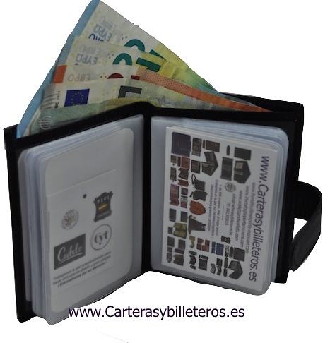 LEATHER WALLET CARD HOLDER 26 CARDS CUBILO BRAND