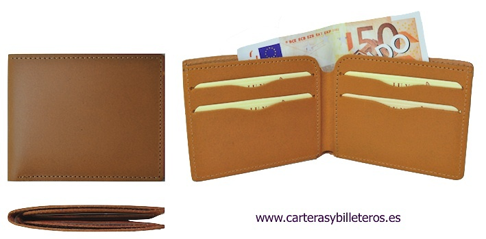 LEATHER WALLET CARD HOLDER MADE IN UBRIQUE IN SPAIN