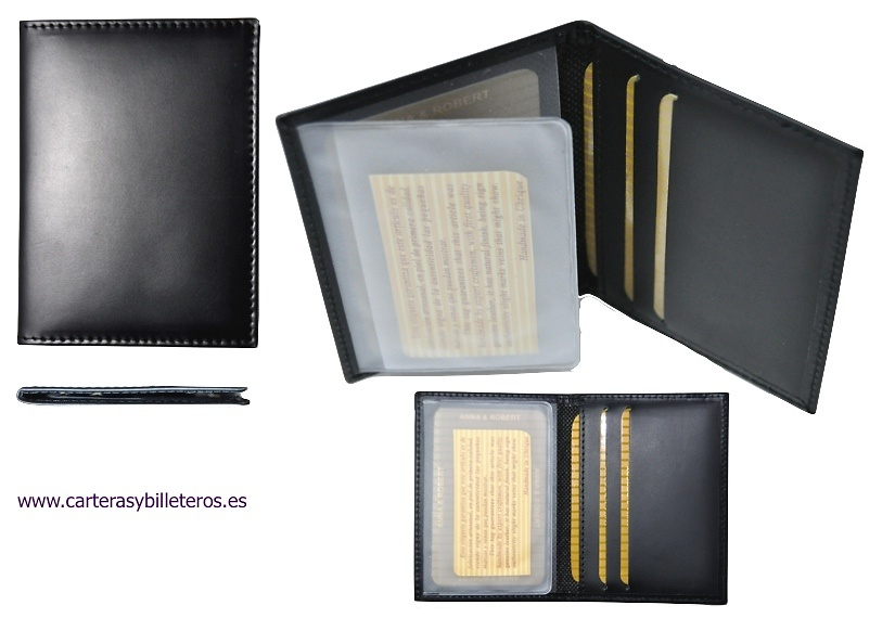 LUXURY LEATHER CARD HOLDER FOR 5 CREDIT CARDS OR CARNETS