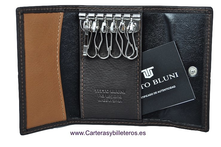 LUXURY LEATHER TITTO BLUNI LEATHER KEY CHAIN