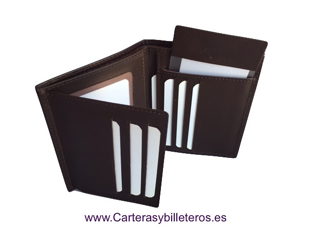 LUXURY LEATHER WALLET CARD HOLDER MADE IN UBRIQUE