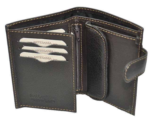 MAN LEATHER WALLET NAPA LUX WITH CLOSURE - 4 COLORS -