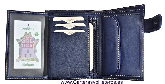 MAN LEATHER WALLET NAPA LUX WITH CLOSURE CHOOSE BETWEEN 4 COLORS