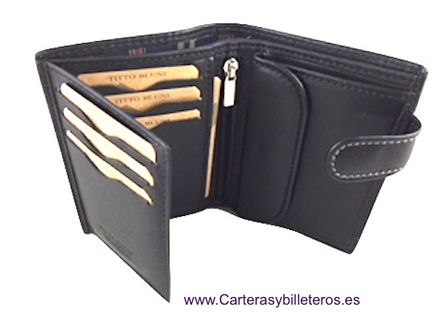 MAN WALLET BRAND BLUNI TITTO MAKE IN LUXURY LEATHER WITH ZIPPER