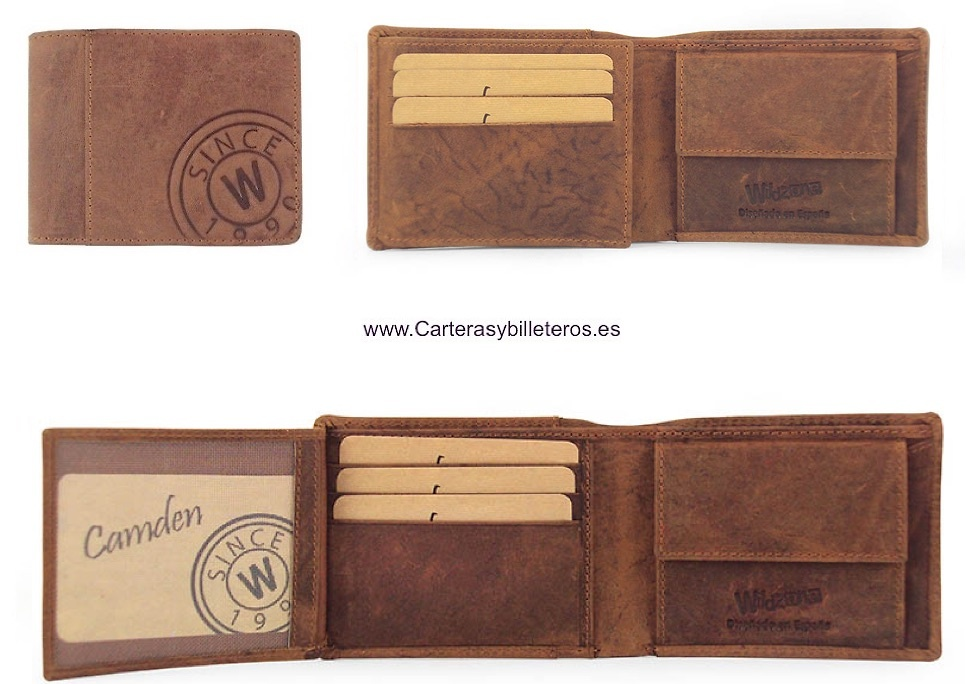 MAN WALLET PURSE IN MATTE FINISHED LEATHER