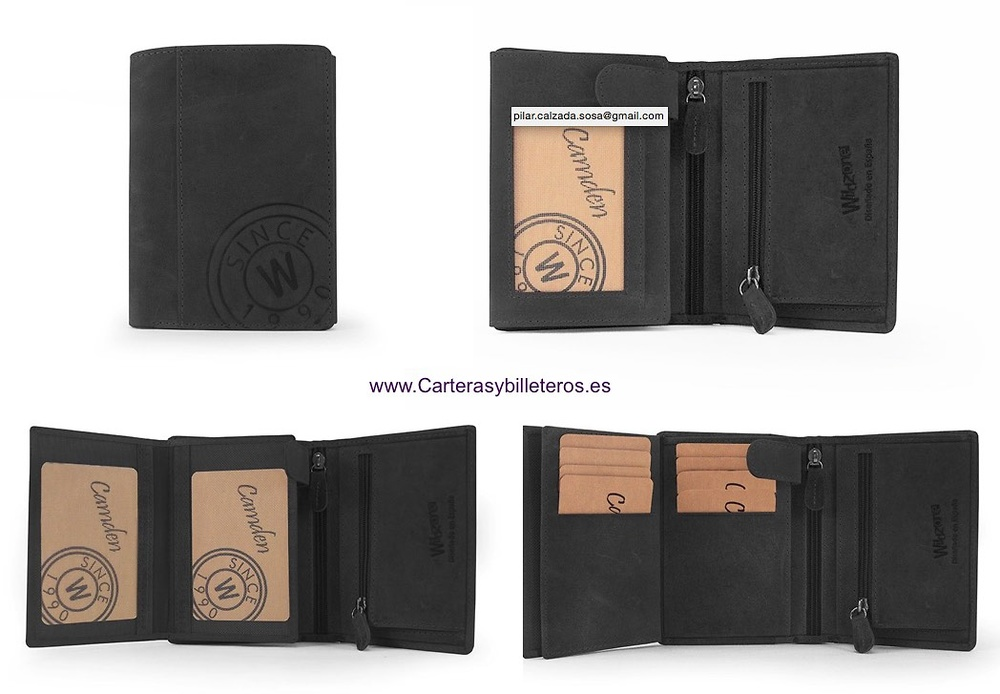 MAN WALLET PURSE IN OLI FINISHED LEATHER