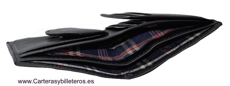 MAN WALLET TITTO BLUNI MAKE IN LUXURY LEATHER WITH PURSE GRAPHITEC