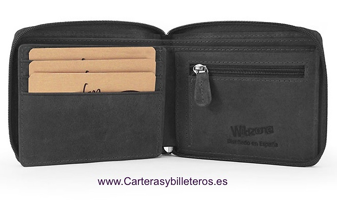 MEN'S WALLET CLOSED BY ZIPPER